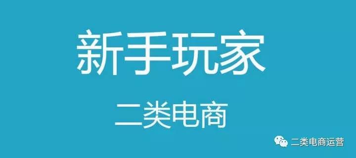 二类电商小白入门行业实战操盘攻略!【2019最新版】