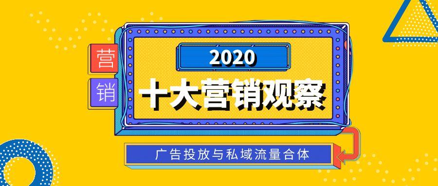 2020十大营销观察:广告投放与私域流量合体